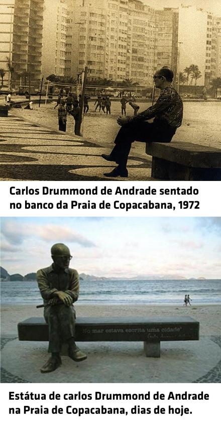 Carlos Drummond de Andrade montagem